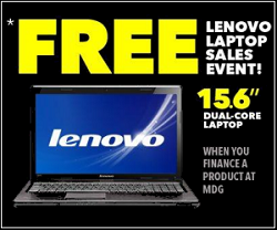 FREE Lenovo Laptop Computer – Finance a Tablet PC from 49 cents per day